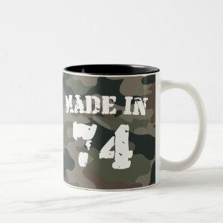 Made In 1974 Two-Tone Coffee Mug