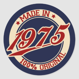 Made In 1975 Classic Round Sticker