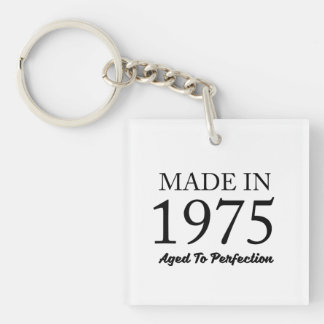 Made In 1975 Double-Sided Square Acrylic Keychain