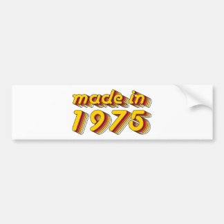Made in 1975 (Yellow&Red) Bumper Sticker