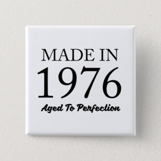 Made In 1976 2 Inch Square Button