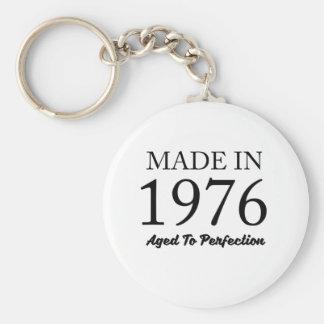 Made In 1976 Basic Round Button Keychain