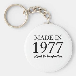Made In 1977 Basic Round Button Keychain