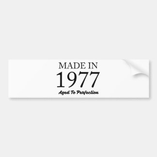 Made In 1977 Bumper Sticker
