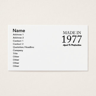 Made In 1977 Business Card