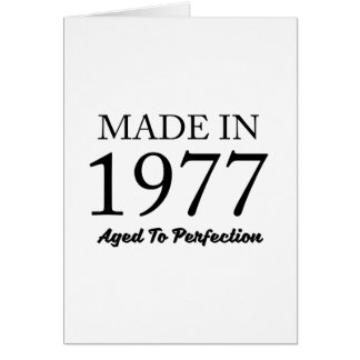 Made In 1977 Card