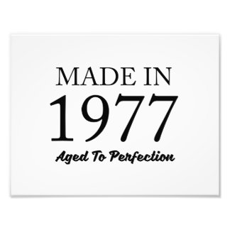 Made In 1977 Photographic Print