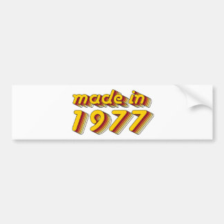 Made in 1977 (Yellow&Red) Bumper Sticker