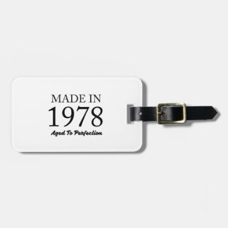 Made In 1978 Bag Tag