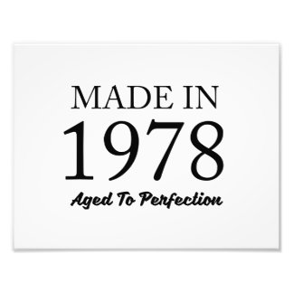 Made In 1978 Photo Print