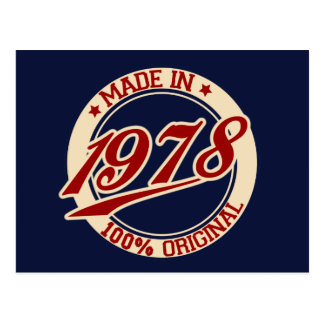 Made In 1978 Postcard