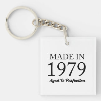 Made In 1979 Double-Sided Square Acrylic Keychain