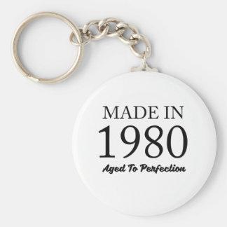 Made In 1980 Basic Round Button Keychain