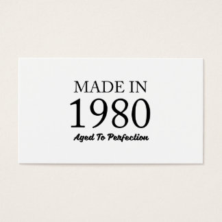 Made In 1980 Business Card