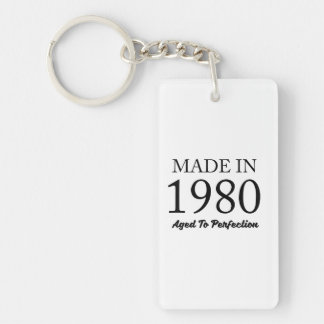 Made In 1980 Double-Sided Rectangular Acrylic Keychain