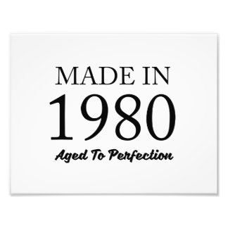 Made In 1980 Photo Print