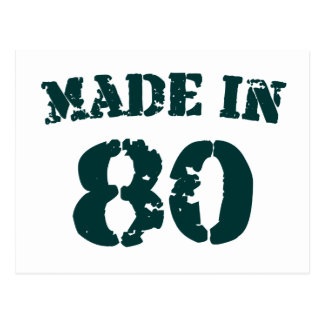 Made In 1980 Postcard