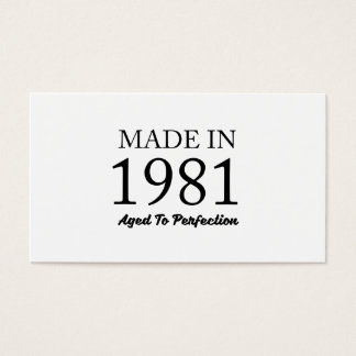 Made In 1981 Business Card