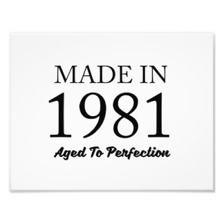 Made In 1981 Photo Print