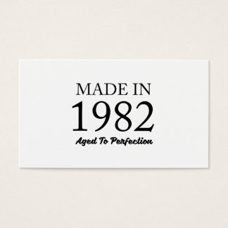 Made In 1982 Business Card