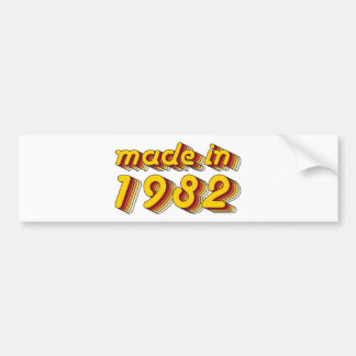 Made in 1982 (Yellow&Red) Bumper Sticker