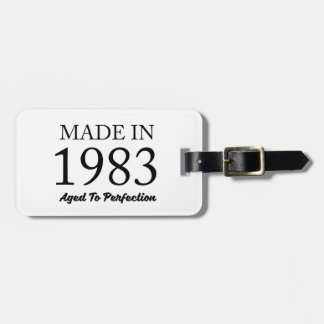 Made In 1983 Luggage Tag