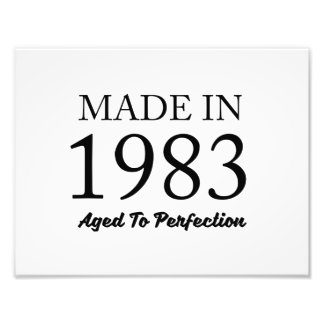 Made In 1983 Photo Print