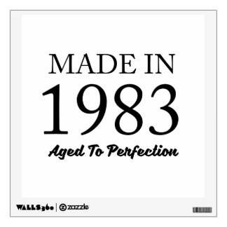 Made In 1983 Wall Sticker
