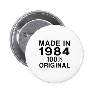 Made In 1984 2 Inch Round Button