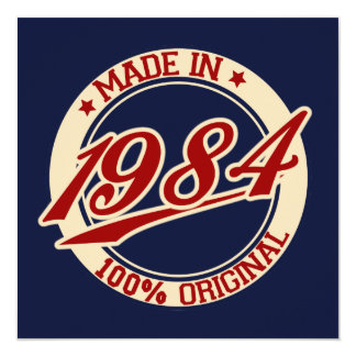 Made In 1984 Card