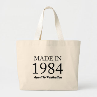 Made In 1984 Large Tote Bag