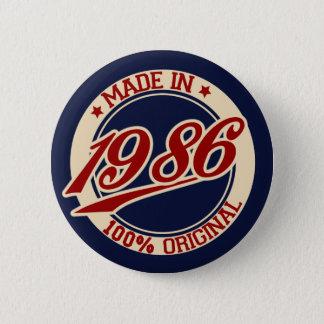 Made In 1986 2 Inch Round Button