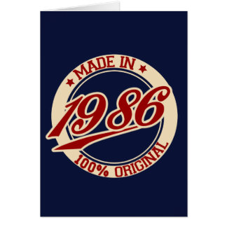 Made In 1986 Card