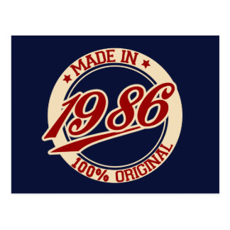 Made In 1986 Postcard