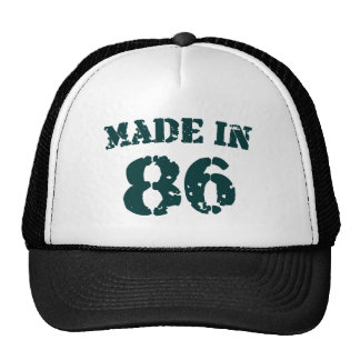 Made In 1986 Trucker Hat