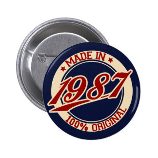 Made In 1987 2 Inch Round Button