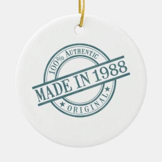 Made in 1988 round ceramic ornament
