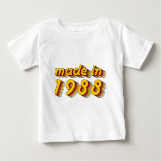 Made in 1988 (Yellow&Red) Baby T-Shirt