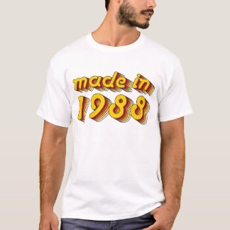 Made in 1988 (Yellow&Red) T-Shirt