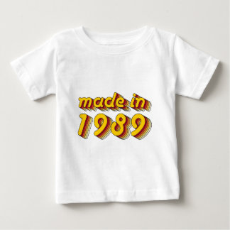 Made in 1989 (Yellow&Red) Baby T-Shirt
