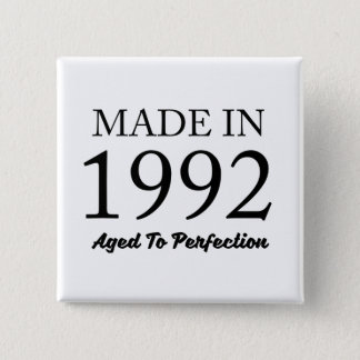 Made In 1992 2 Inch Square Button