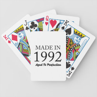 Made In 1992 Bicycle Playing Cards