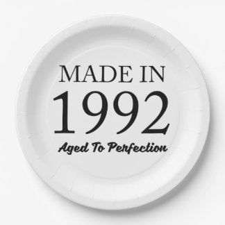 Made In 1992 Paper Plate