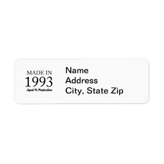 Made In 1993 Return Address Label