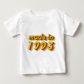Made in 1993 (Yellow&Red) Baby T-Shirt