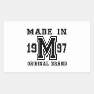 MADE IN 1997 ORIGINAL BRAND BIRTHDAY DESIGNS STICKER