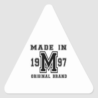 MADE IN 1997 ORIGINAL BRAND BIRTHDAY DESIGNS TRIANGLE STICKER