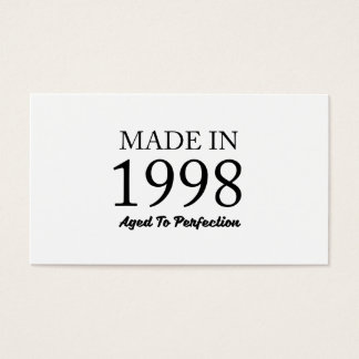 Made In 1998 Business Card