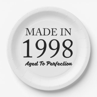 Made In 1998 Paper Plate