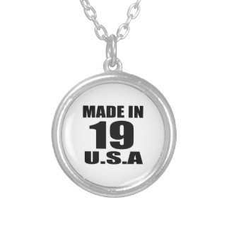 MADE IN 19 U.S.A BIRTHDAY DESIGNS SILVER PLATED NECKLACE